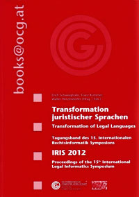 Tagungsband des 15. Internationalen Rechtsinformatik Symposions IRIS 2012
