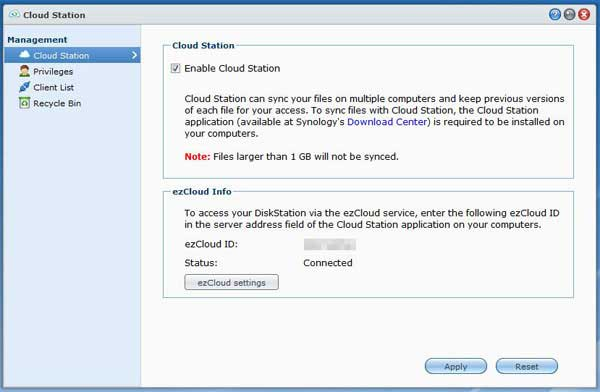 Cloud Station Beta Management