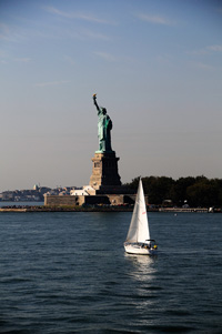 Liberty Island from Ferry