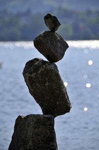 Steinskulpturen am Zürichsee