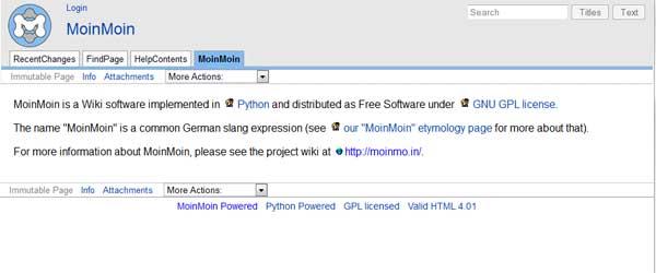MoinMoin Wiki
