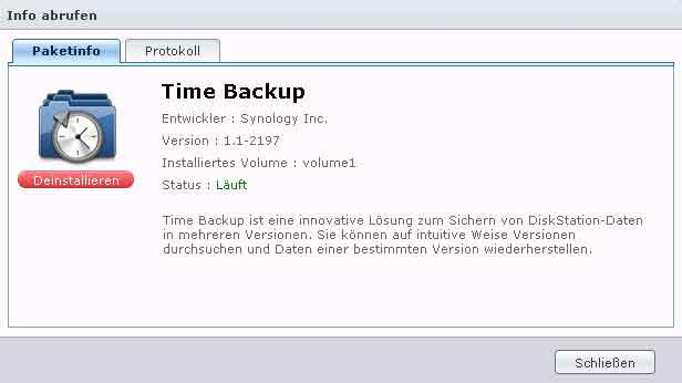 Synology Time Backup Packet